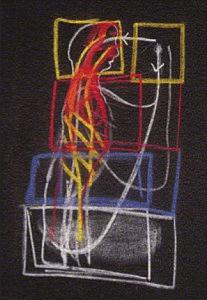 Tafelzeichnung Rudolf Steiners zum Vortrag vom 11.02.1923