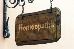 Homöopathie Schild